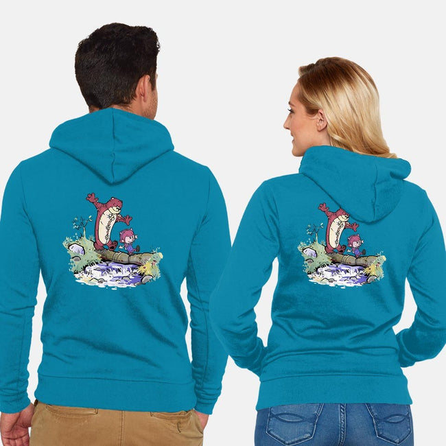 A Stroll Through the Rift-unisex zip-up sweatshirt-KindaCreative