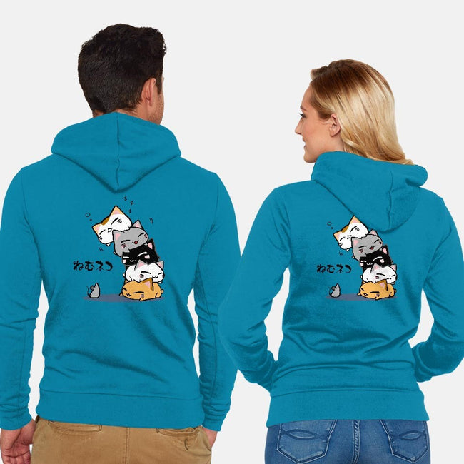 Neko Uh-oh-unisex zip-up sweatshirt-JAZZCOLA