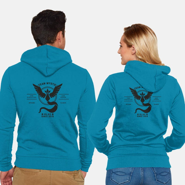 Go Team Mystic!-unisex zip-up sweatshirt-Retro Review