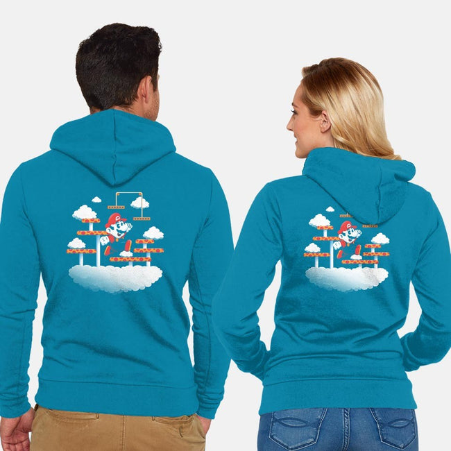 Clouds-unisex zip-up sweatshirt-Minilla