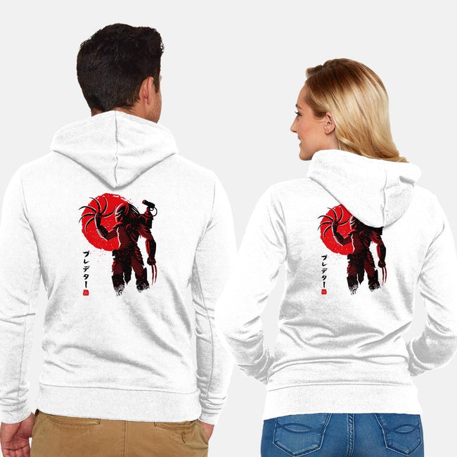 Predator Red-unisex zip-up sweatshirt-albertocubatas