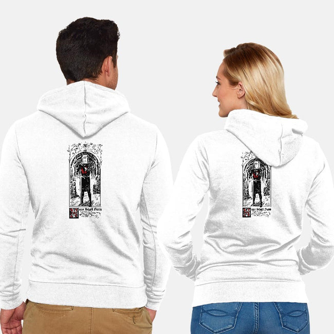 None Shall Pass-unisex zip-up sweatshirt-Mathiole