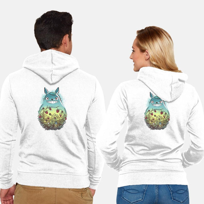 Inside the Forest-unisex zip-up sweatshirt-BlancaVidal