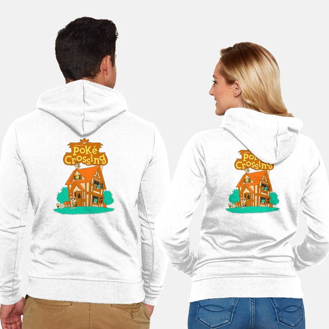 Poke Crossing-unisex zip-up sweatshirt-PKtora