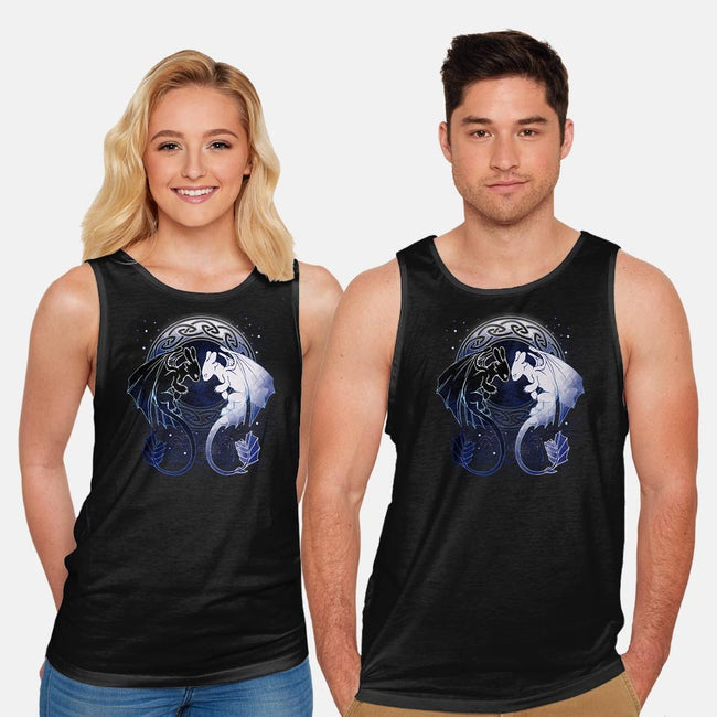 Two Dragons-unisex basic tank-xMorfina