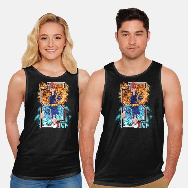 Hot and Cold Card-unisex basic tank-Coinbox Tees