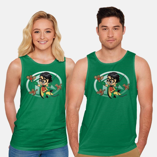 FIne Feathered Sidekicks-unisex basic tank-DoOomcat