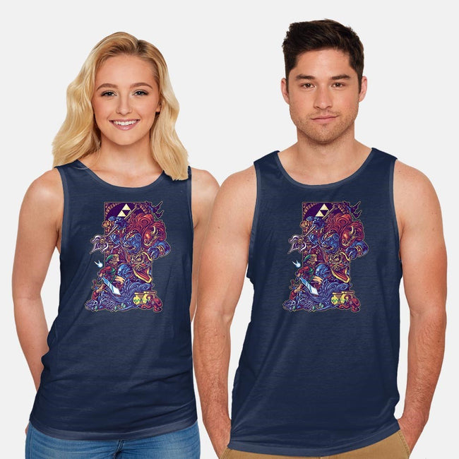 Power & Courage-unisex basic tank-Bo Bradshaw