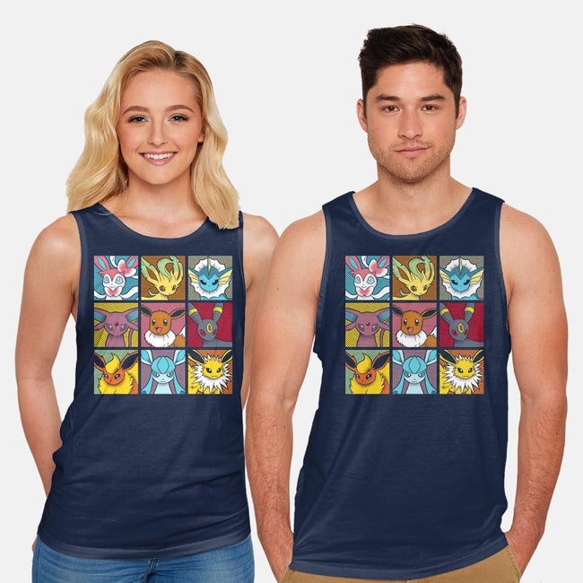 Pop Eeveelutions-unisex basic tank-paulagarcia