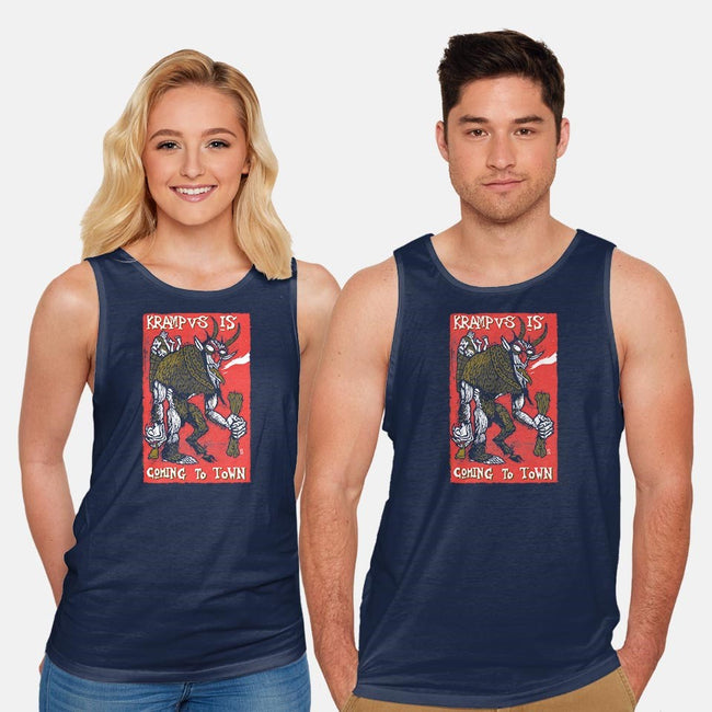Krampus is Comin' To Town-unisex basic tank-tomashijo