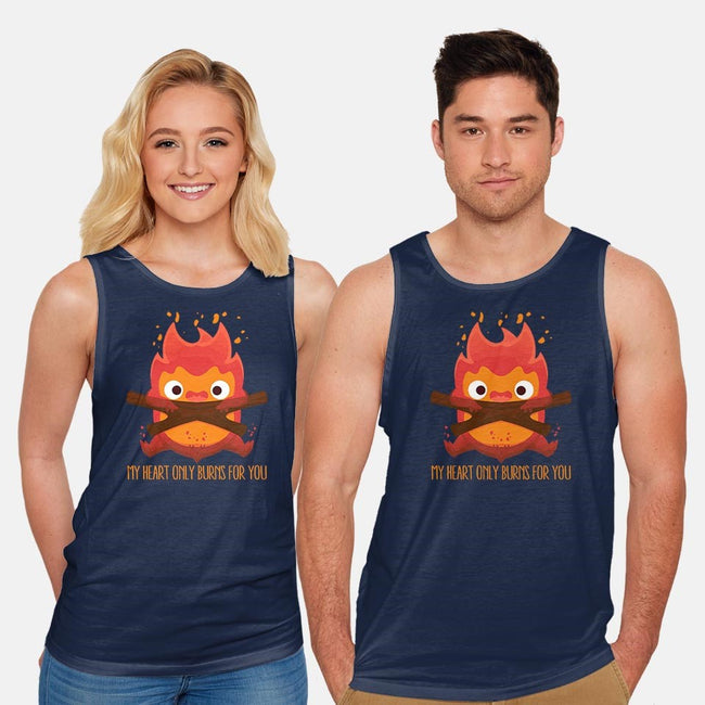 The Fire Demon-unisex basic tank-maped