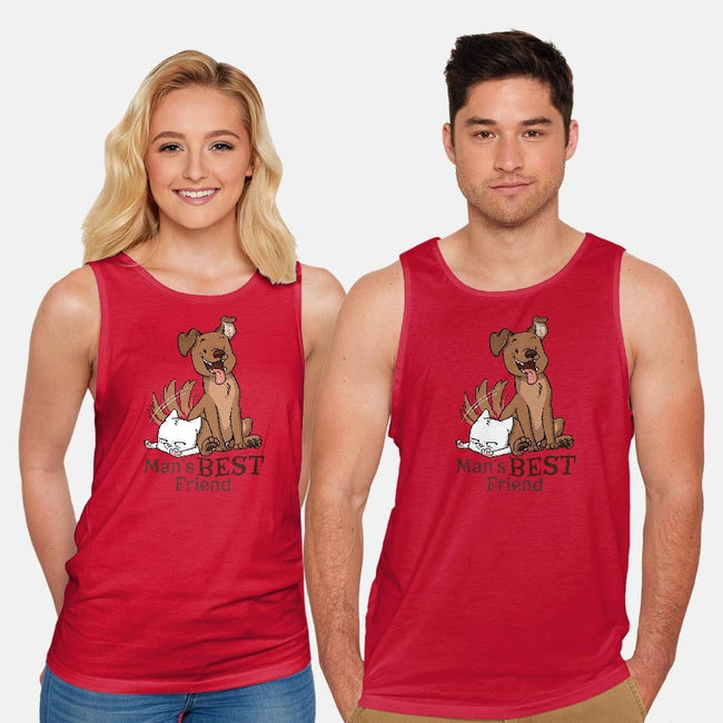 Man's Best Friend-unisex basic tank-DoOomcat