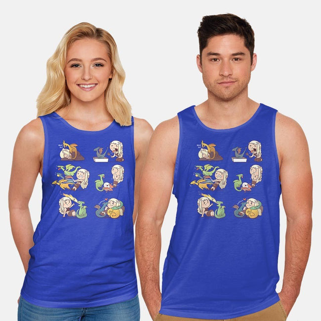Crazy Dragonlady-unisex basic tank-queenmob