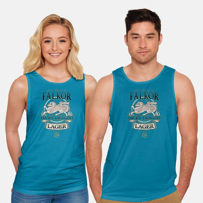 Lucky Dragon Lager-unisex basic tank-etcherSketch