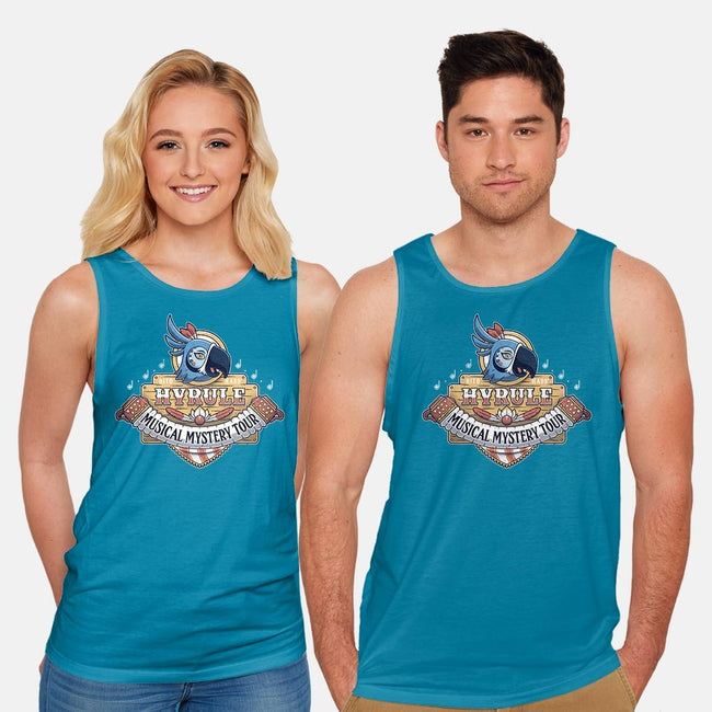 Kass' Musical Mystery Tour-unisex basic tank-adho1982