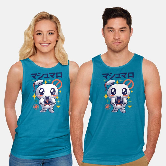 Kawaii Marshmallow-unisex basic tank-vp021