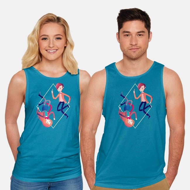 The Madman and the Girl Who Waited-unisex basic tank-nanlawson