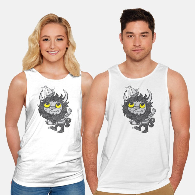 Yellow Eyes-unisex basic tank-wotto