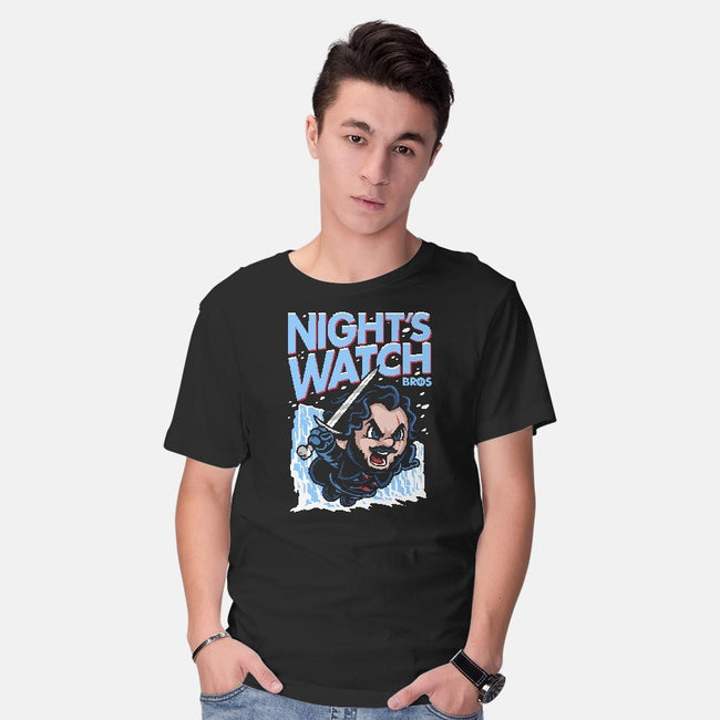 Night's Watch Bros-mens basic tee-harebrained
