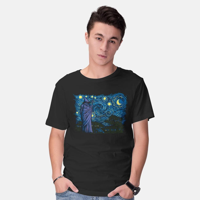 Starry Hobbiton-mens basic tee-ddjvigo
