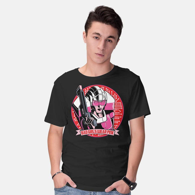 Bad Girls Wear Pink-mens basic tee-boltfromtheblue