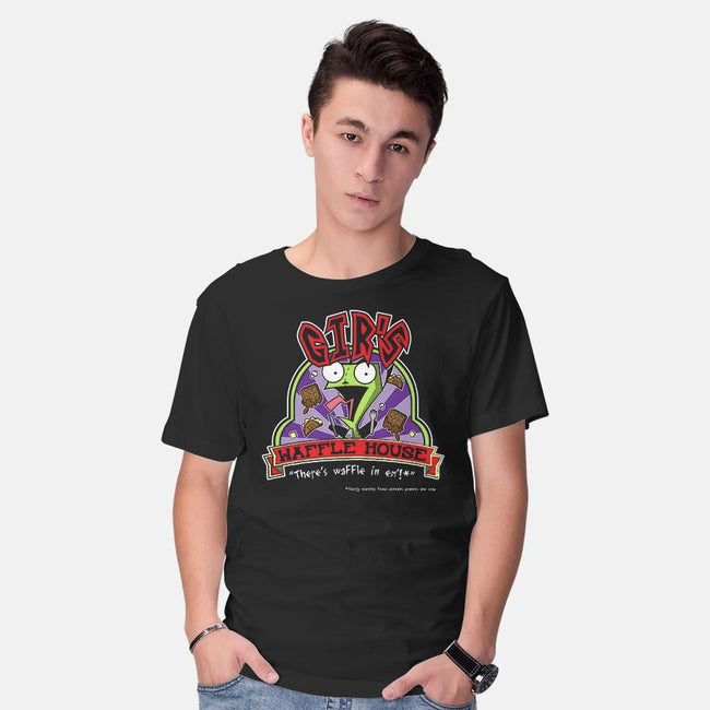 Gir's Waffles House-mens basic tee-Chriswithata