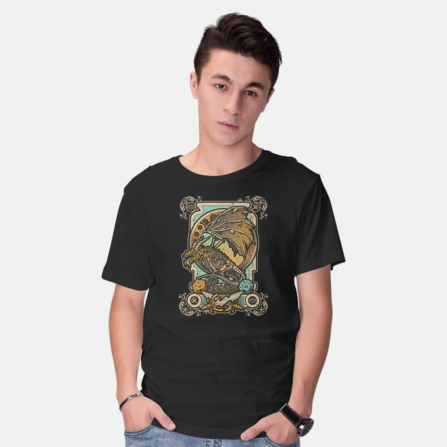 Zombie Dragon-mens basic tee-Letter_Q