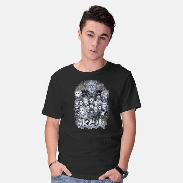 War of Ice and Fire-mens basic tee-Firebrander