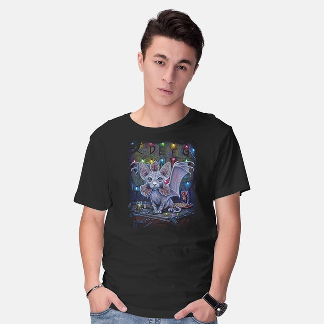DE-MEOW-GORGON-mens basic tee-MoniWolf
