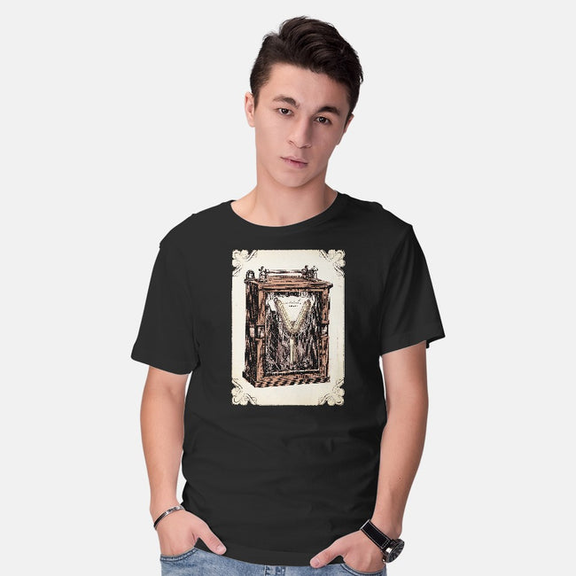 Vintage Flux-mens basic tee-Alex Eckman-Lawn