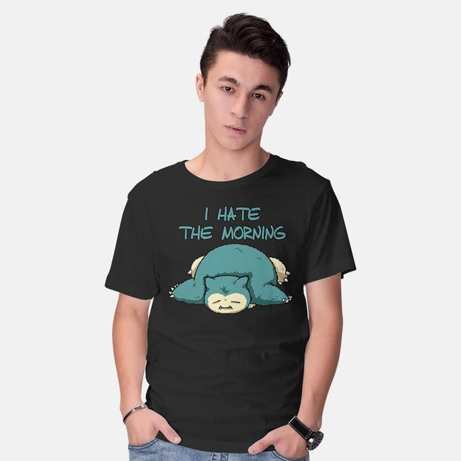 I Hate The Morning-mens basic tee-ducfrench