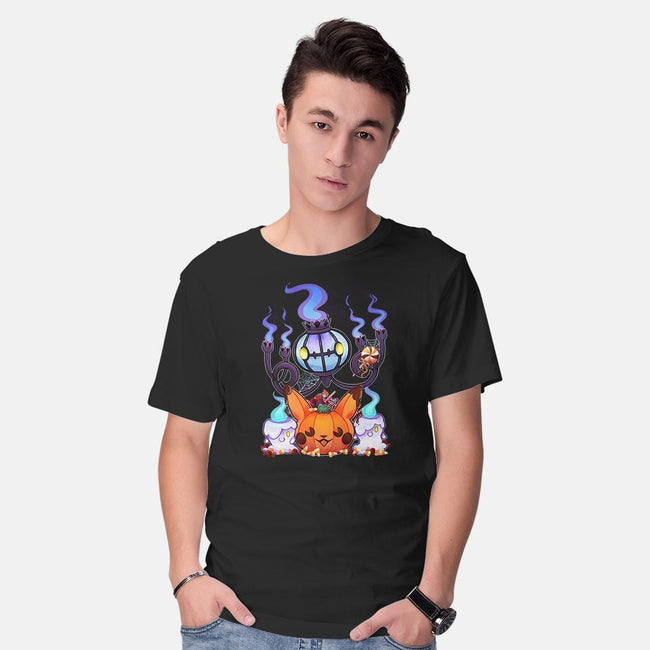 Ghostly Halloween-mens basic tee-TangolaDude