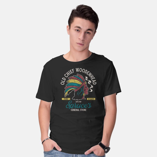 Old Chief Woodenhead-mens basic tee-Nemons