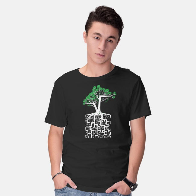 Square Root-mens basic tee-C0y0te7