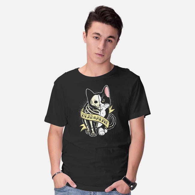 Schrodinger Cat Tattoo-mens basic tee-NemiMakeit