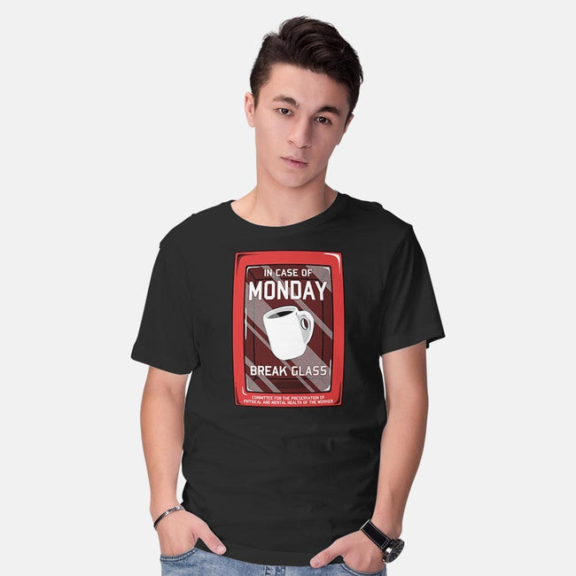 In Case of Monday-mens basic tee-KinkajouArt