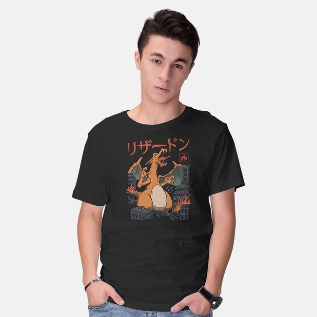 Fire Kaiju-mens basic tee-vp021