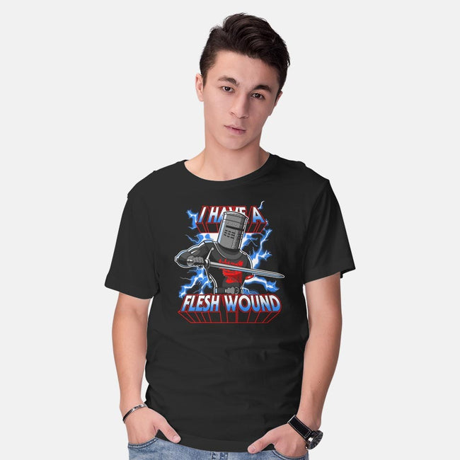 I Have A Flesh Wound-mens basic tee-KindaCreative
