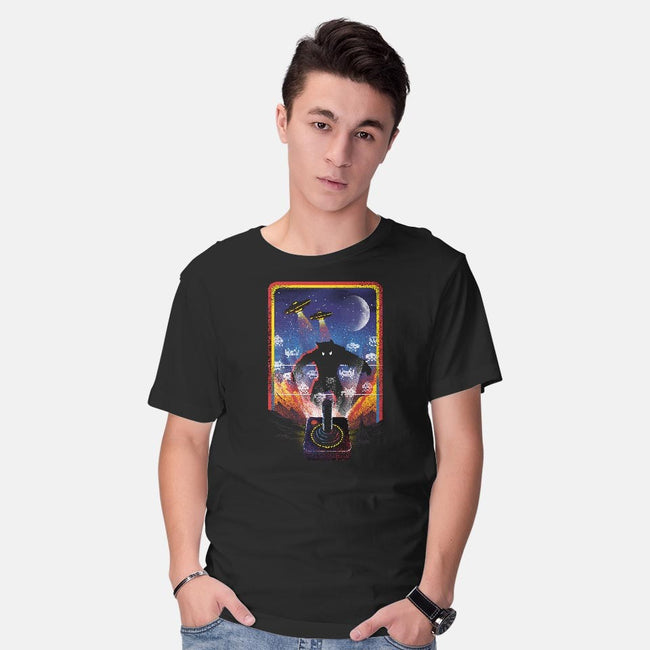 Nostalgic Gaming-mens basic tee-dandingeroz