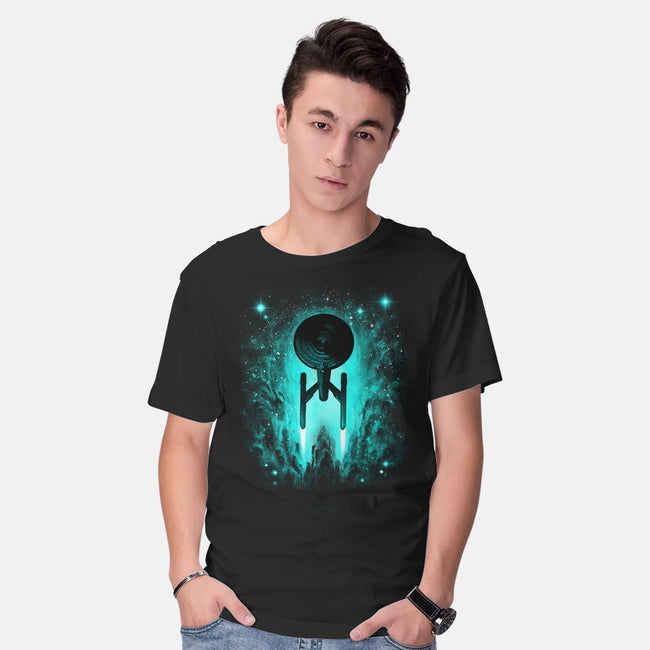 Voyages In Space-mens basic tee-alemaglia