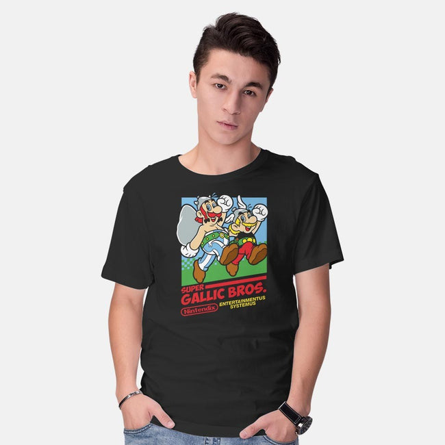 Super Gallic Bros.-mens basic tee-Nemons