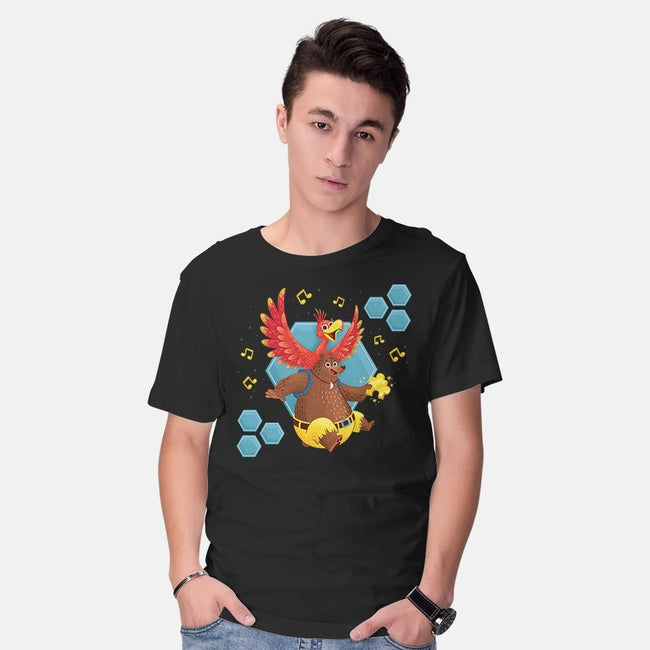 Bird and Bear 64-mens basic tee-Miranda Dressler