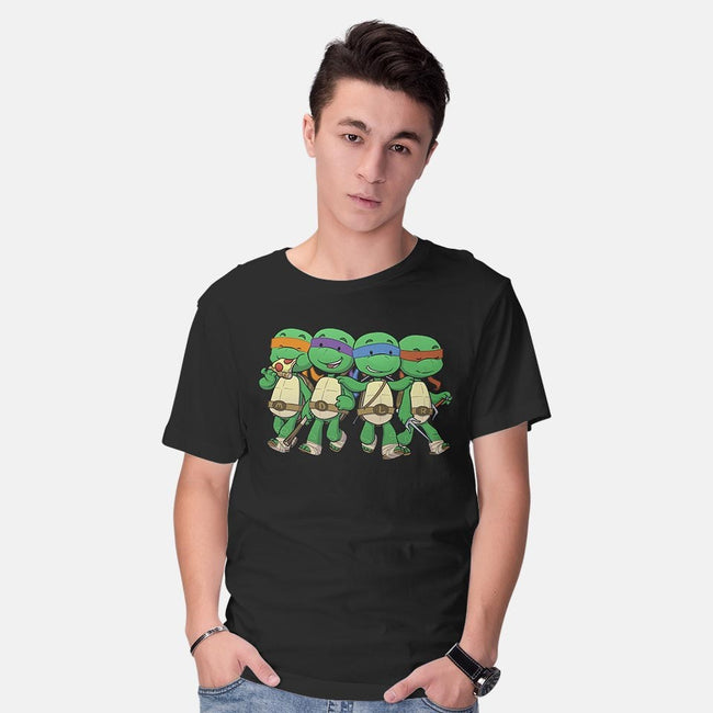 Turtle BFFs-mens basic tee-DoOomcat