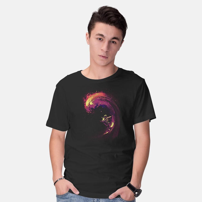 Space Surfing-mens basic tee-nicebleed