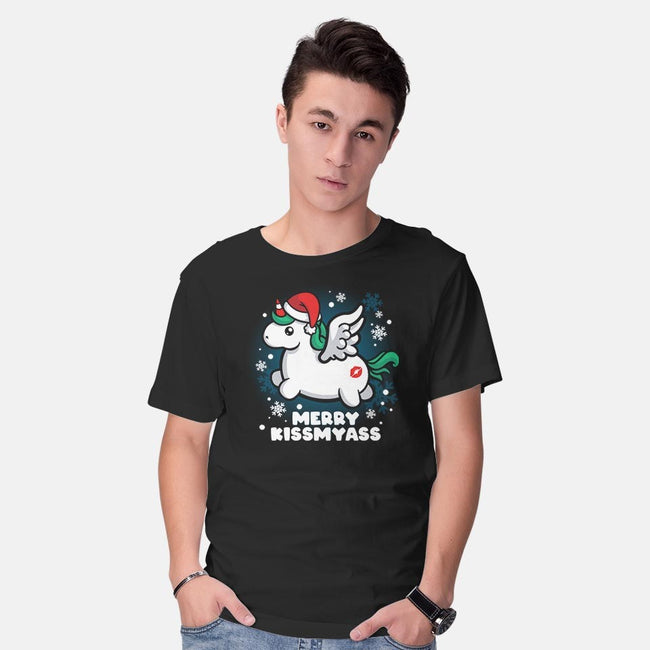 Merry Kiss My Ass-mens basic tee-NemiMakeit