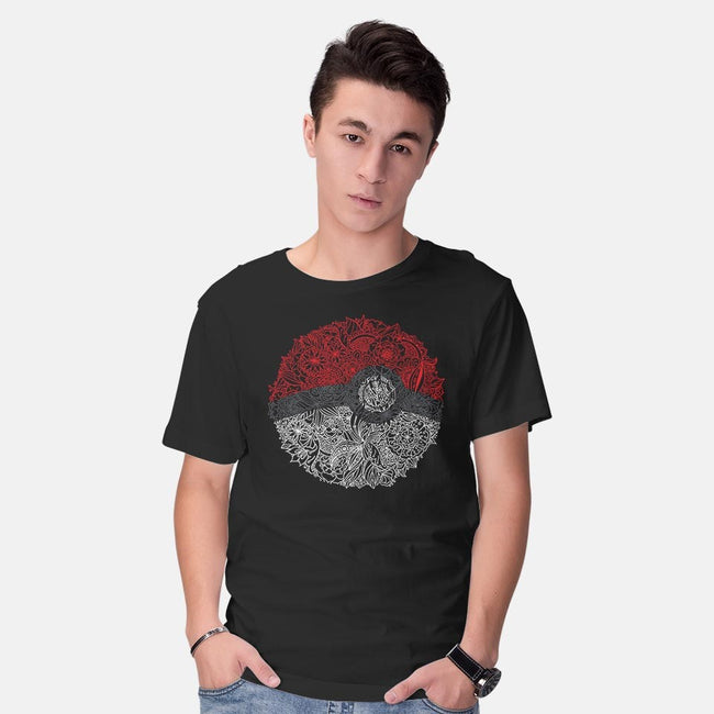 Flower Ball-mens basic tee-scarletknightco