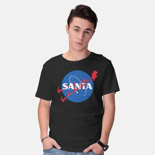 Santa's Space Agency-mens basic tee-Boggs Nicolas