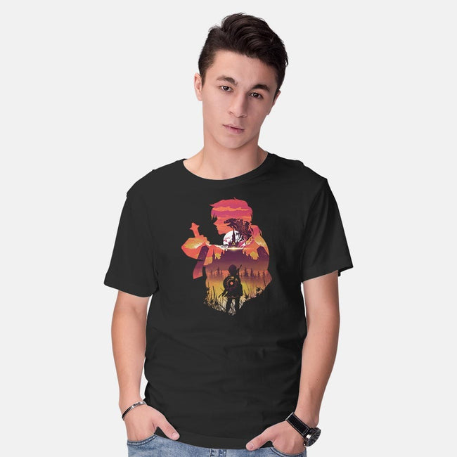 The Legend Sunset-mens basic tee-dandingeroz