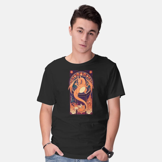 Fire Type Nouveau-mens basic tee-ChocolateRaisinFury
