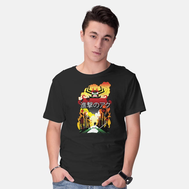 Attack on Aku-mens basic tee-Chriswithata